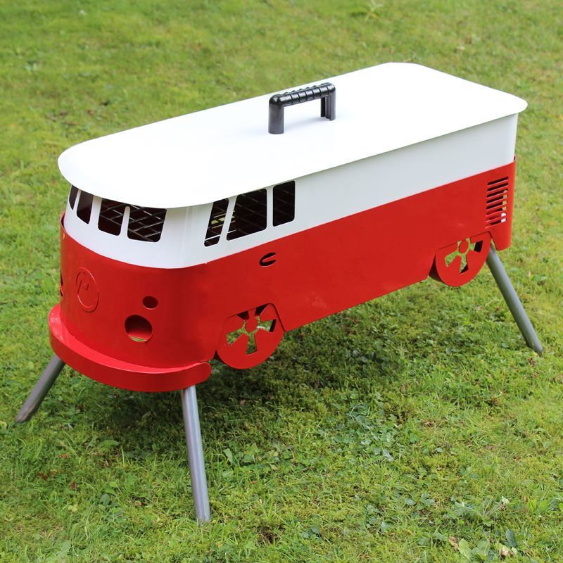 red and white camper van bbq buy online at qd stores. Black Bedroom Furniture Sets. Home Design Ideas
