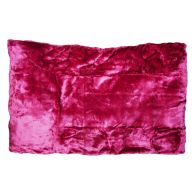 See more information about the Your Home 150 x 200cm Faux Fur Dark Pink Throw