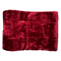 See more information about the Your Home 150 x 200cm Faux Fur Dark Red Throw