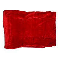 See more information about the Your Home 150 x 200cm Faux Fur Red Throw