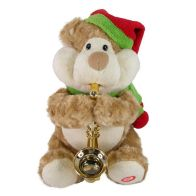 See more information about the 10inch Plush  Bear With Saxaphone Animated Toy