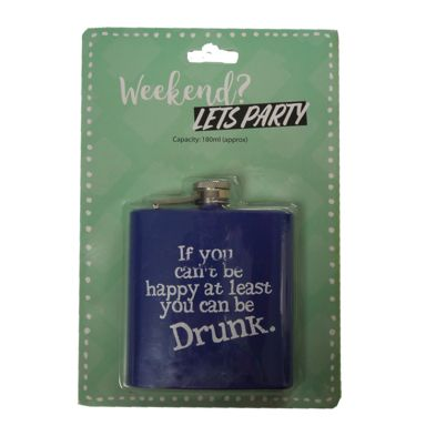 Humourous Slogan Drinking Flask 180ml