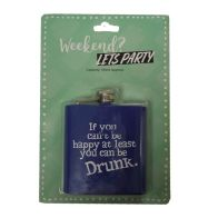 See more information about the Humourous Slogan Drinking Flask 180ml