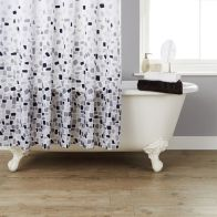 See more information about the Grey Mosaic Shower Curtain Mosaic