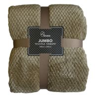 See more information about the Soft Cosy Waffle Throw (200cm x 200cm) - Dark Beige