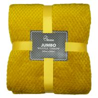 See more information about the Soft Cosy Waffle Throw (200cm x 200cm) - Yellow