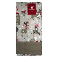 See more information about the 2 Pack Kitchen Towels Christmas Woodland