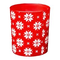 See more information about the Scented Glass Candle (5cm x 6cm) - Snowflake