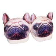 See more information about the 22cm Open Heel Animal Slipper - Pug
