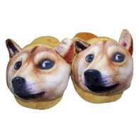 See more information about the 22cm Open Heel Animal Slipper -Corgi