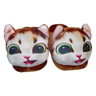 See more information about the 22cm Open Heel Animal Slipper - Brown Cat