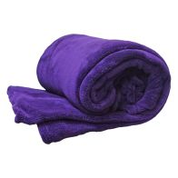 See more information about the 150 x 200cm Flannel Fleece Blanket Throw Purple