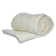 See more information about the 150 x 200cm Flannel Fleece Blanket Throw Cream