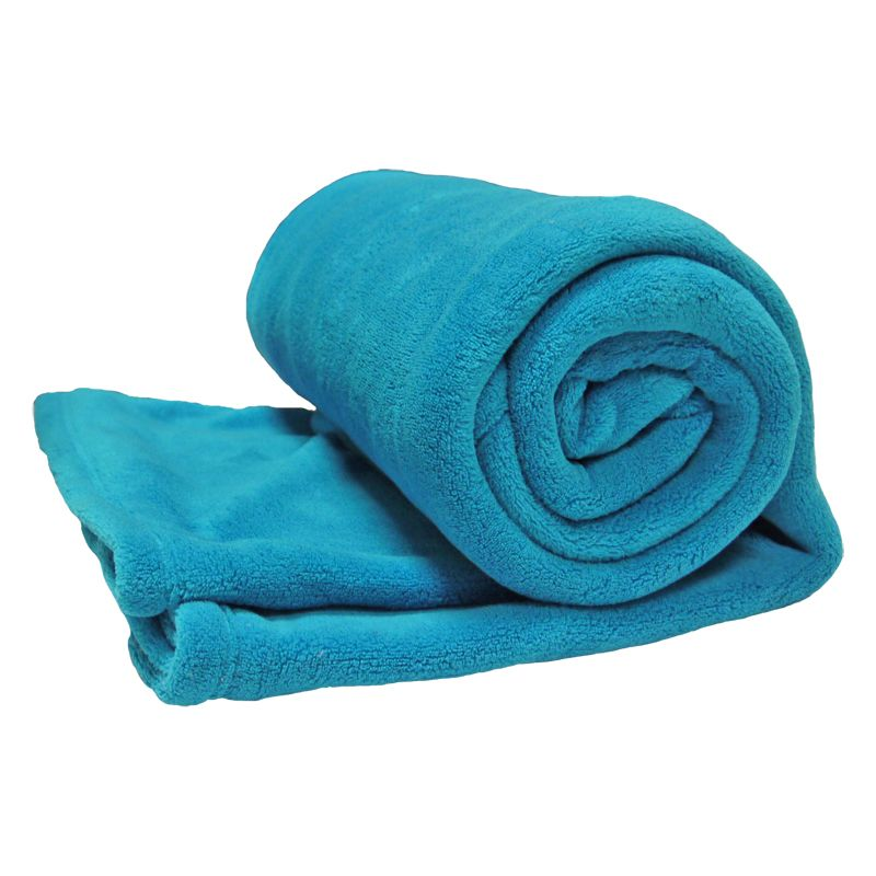 Your Home 150 x 200cm Coral Fleece Light Blue Throw
