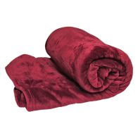 See more information about the Your Home 150 x 200cm Coral Fleece Dark Red Throw
