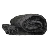 See more information about the Your Home 150 x 200cm Coral Fleece Dark Brown Throw