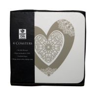 See more information about the Natural Heart Coasters  x 4