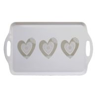 See more information about the Natural Heart Handled Tea Tray
