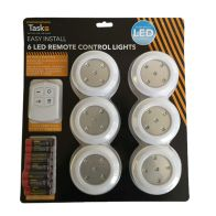 See more information about the Bright On Remote Control LED Lights 6 Pack