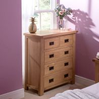See more information about the Cotswold Oak Chest Of 5 Drawers