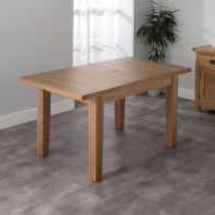 See more information about the Cotswold Oak Small Extending Dining Table Medium (1.2m - 1.5m)
