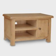 See more information about the Cotswold TV Unit Oak 1 Door 2 Shelf Small