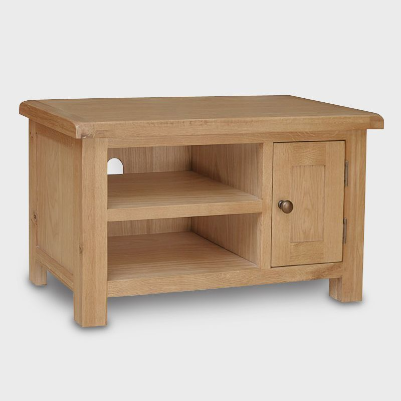 Cotswold TV Unit Oak 1 Door 2 Shelf Small