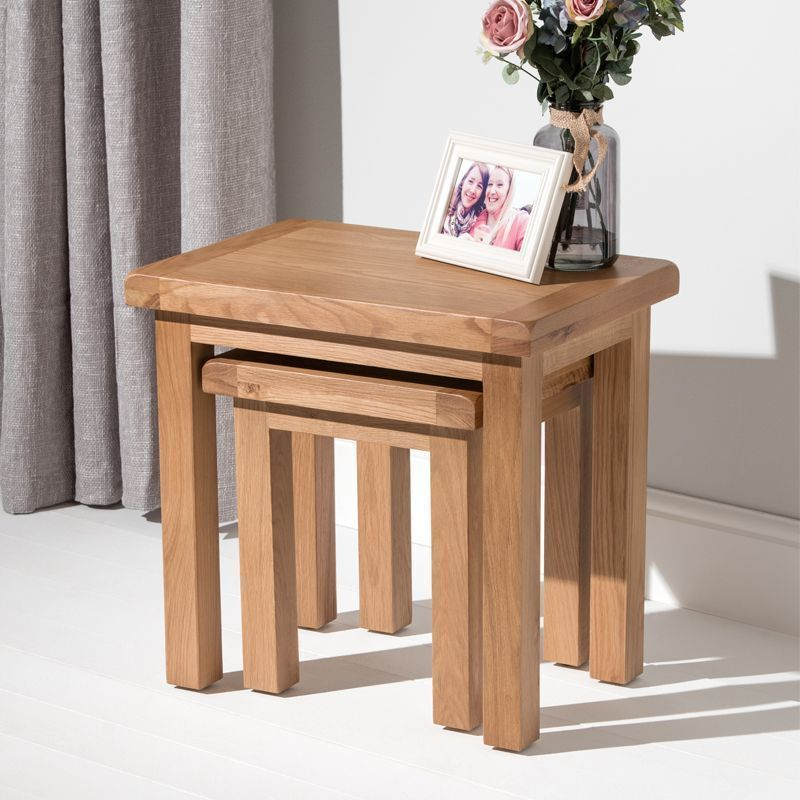 Cotswold Duo Nest of Tables Oak