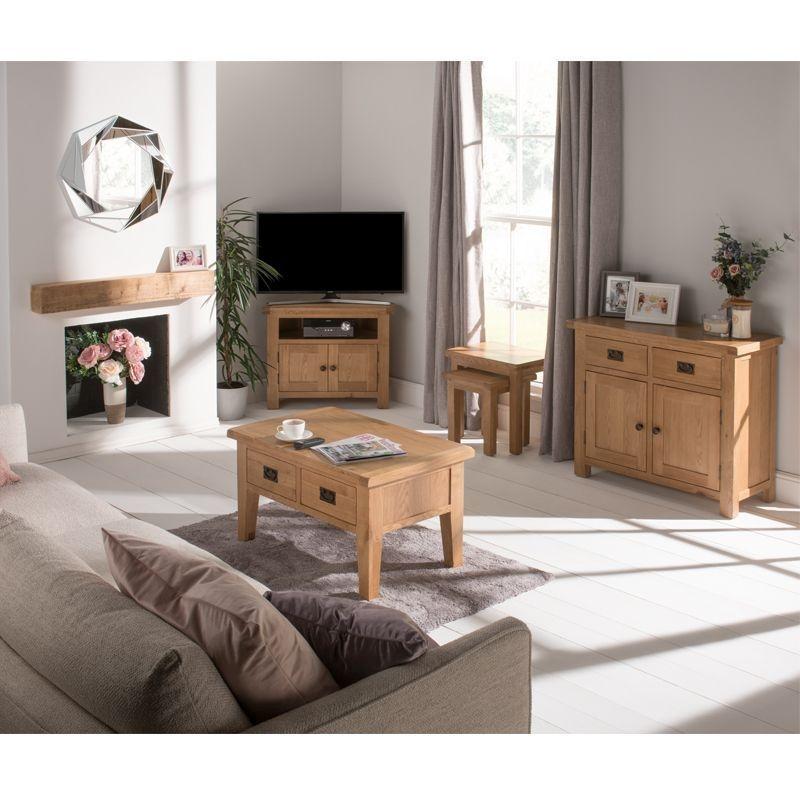 Cotswold Oak Small Living Room Set, Oak Living Room Furniture Sets Uk