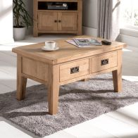 See more information about the Cotswold Coffee Table Oak 2 Drawer