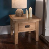 See more information about the Cotswold Lamp Table Oak 1 Drawer