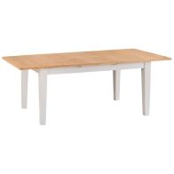 See more information about the Elsing Extending Dining Table Painted Oak 6 Seater