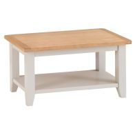 See more information about the Elsing Pine Small Coffee Table With Shelf