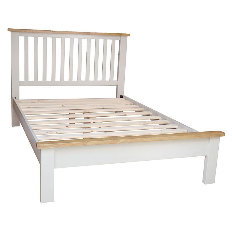"Elsing Pine Slatted Double Bed (4'6"")"