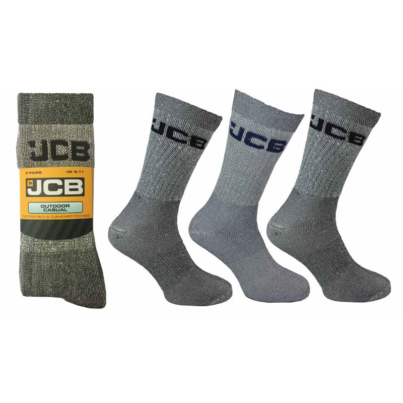 3 Pack Mens Assorted Colours Casual Boot Socks