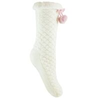 See more information about the 1 Pack Slipper Popcorn Cream Socks