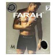 See more information about the 2 Pack Mens Black Medium Seamless Farah Trunks