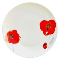 See more information about the Red Floral Dinner Plate