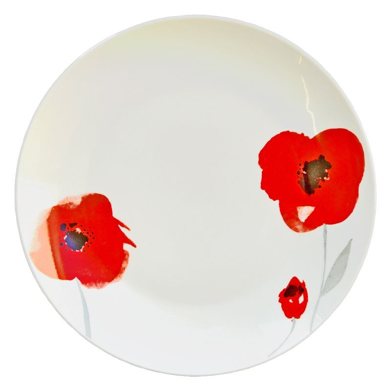 Red Floral Dinner Plate - Buy Online at QD Stores