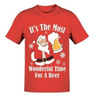 See more information about the Mens Beer T-Shirt Christmas Print - Small