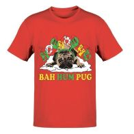 See more information about the Mens HoHo Pug T-Shirt Christmas Print - Small