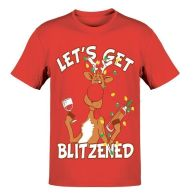 See more information about the Mens Blitzen T-Shirt Christmas Print - X Large