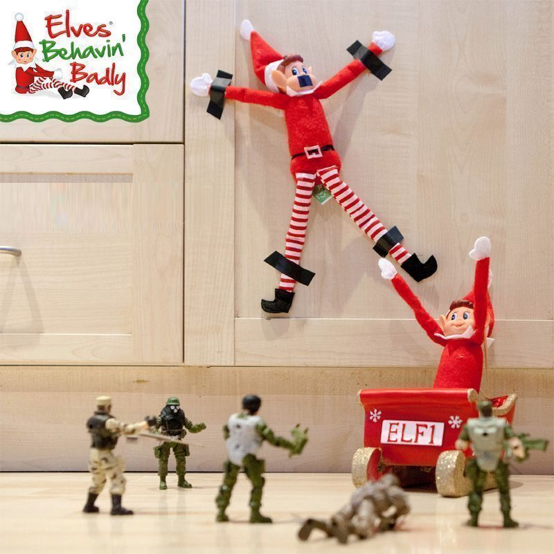 Elves Behavin' Badly Elvie Red Girl Elf 12 Inch