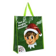 See more information about the Elves Behavin' Badly Naughty Elf Woven Bag Shopping - Green