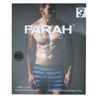 See more information about the 2 Pack Mens Navy XX Large Stripe Plain Farah Trunks