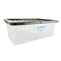See more information about the 32L TML Underbed / Stacking Storage Clear Box & Black Lid
