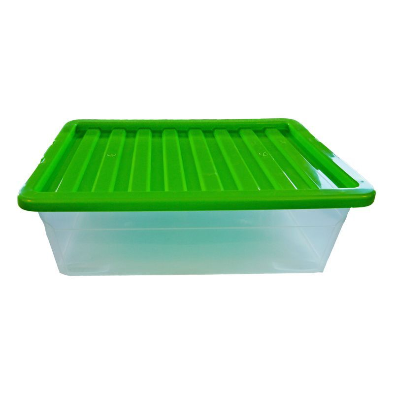 32L TML Underbed Storage Box & Green Lid