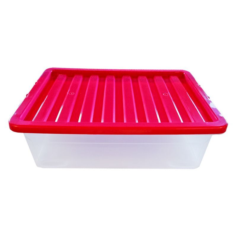 32L TML Underbed Storage Box & Pink Lid