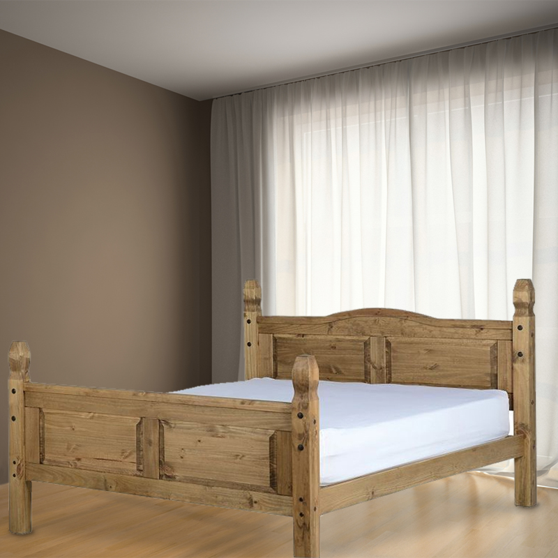 Corona Pine Double Bed 4ft 6in Bed Frame