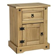 See more information about the Corona Distressed Waxed Pine Bedside Cabinet